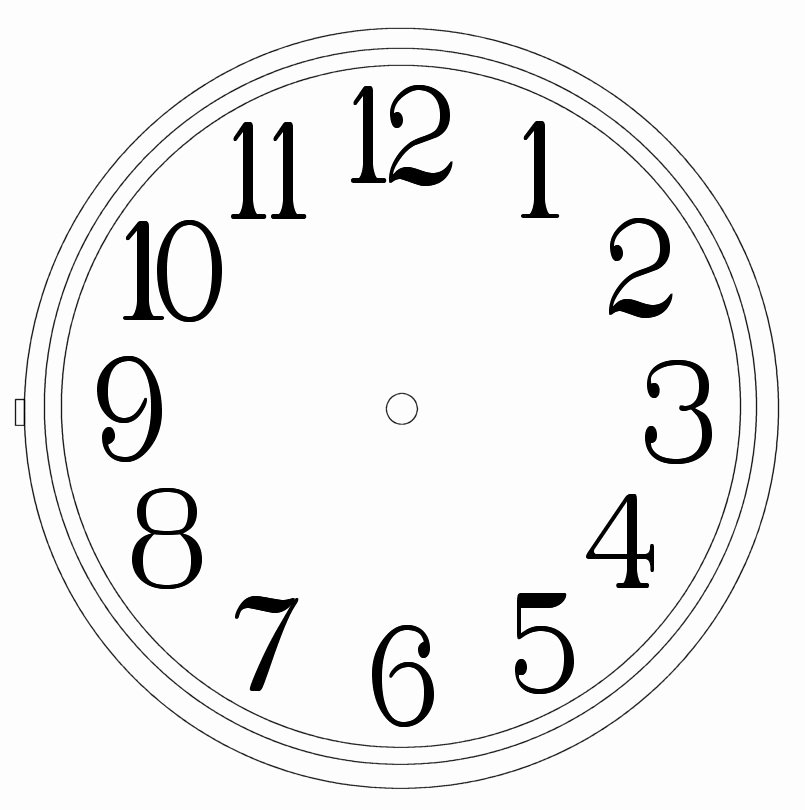 Free Printable Clock Template Beautiful Clock Templates Clipart Library