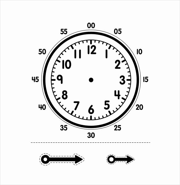 Free Printable Clock Template Fresh 17 Printable Clock Templates Pdf Doc