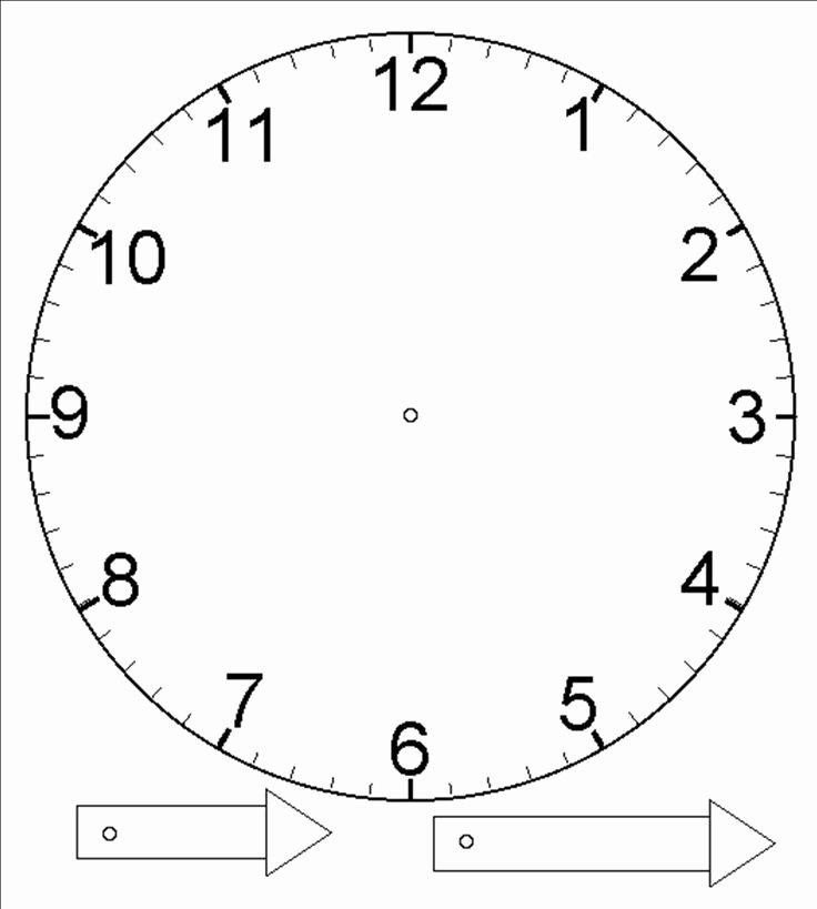 Free Printable Clock Template Fresh Template for Clock with Moveable Hour and Minute Hand