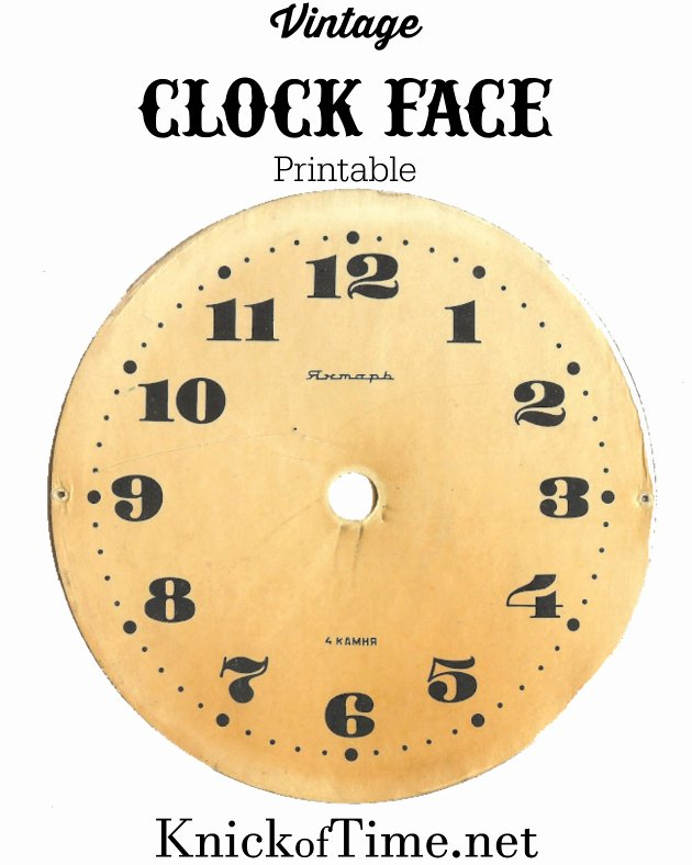 Free Printable Clock Template Lovely Antique Graphics Wednesday Clock Faces Knick Of Time