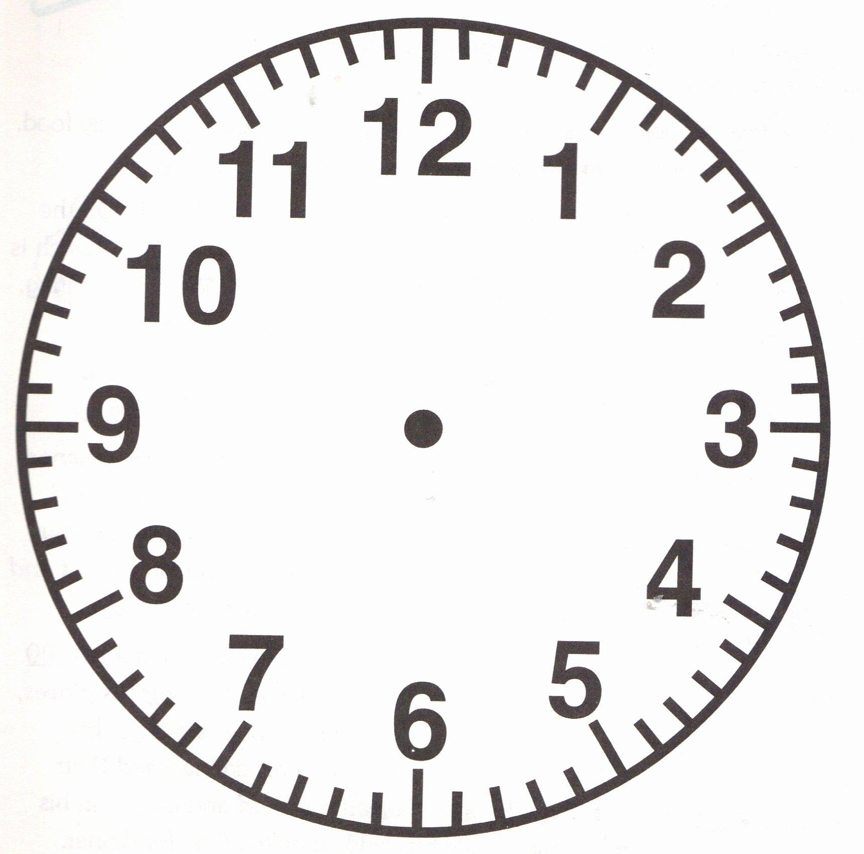 Free Printable Clock Template Luxury Blank Clock Faces Printable