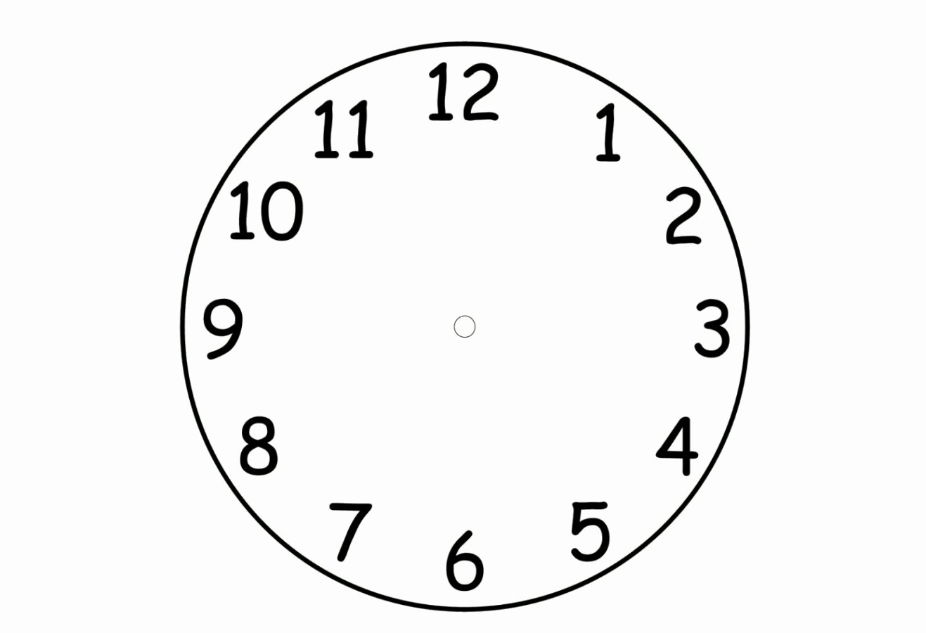 Free Printable Clock Template Luxury Blank Clock Faces Template Template Update234