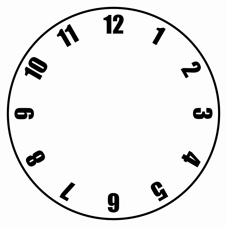 Free Printable Clock Template Luxury Free Clock Faces Printable