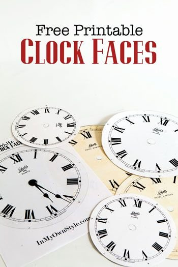 Free Printable Clock Template Luxury Free Printable Clock Faces