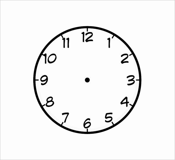 Free Printable Clock Template New 9 Printable Clock Templates – Free Word Pdf format