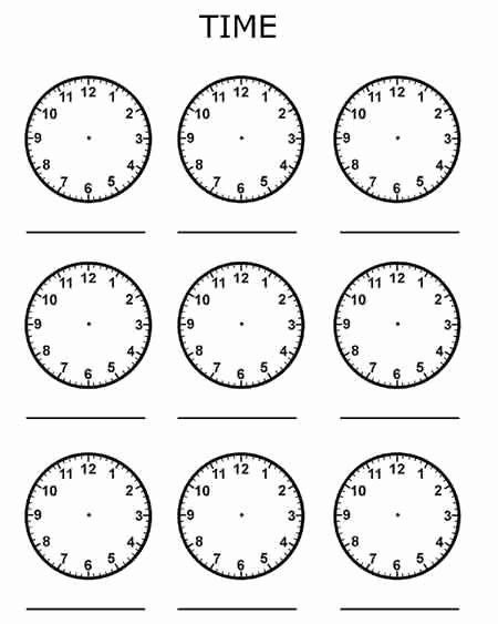 Free Printable Clock Template New Clocks Blank Telling Time Bluebirdplanet Printables