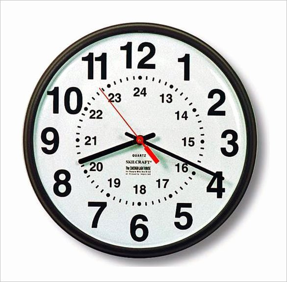 Free Printable Clock Template Unique 17 Printable Clock Templates Pdf Doc