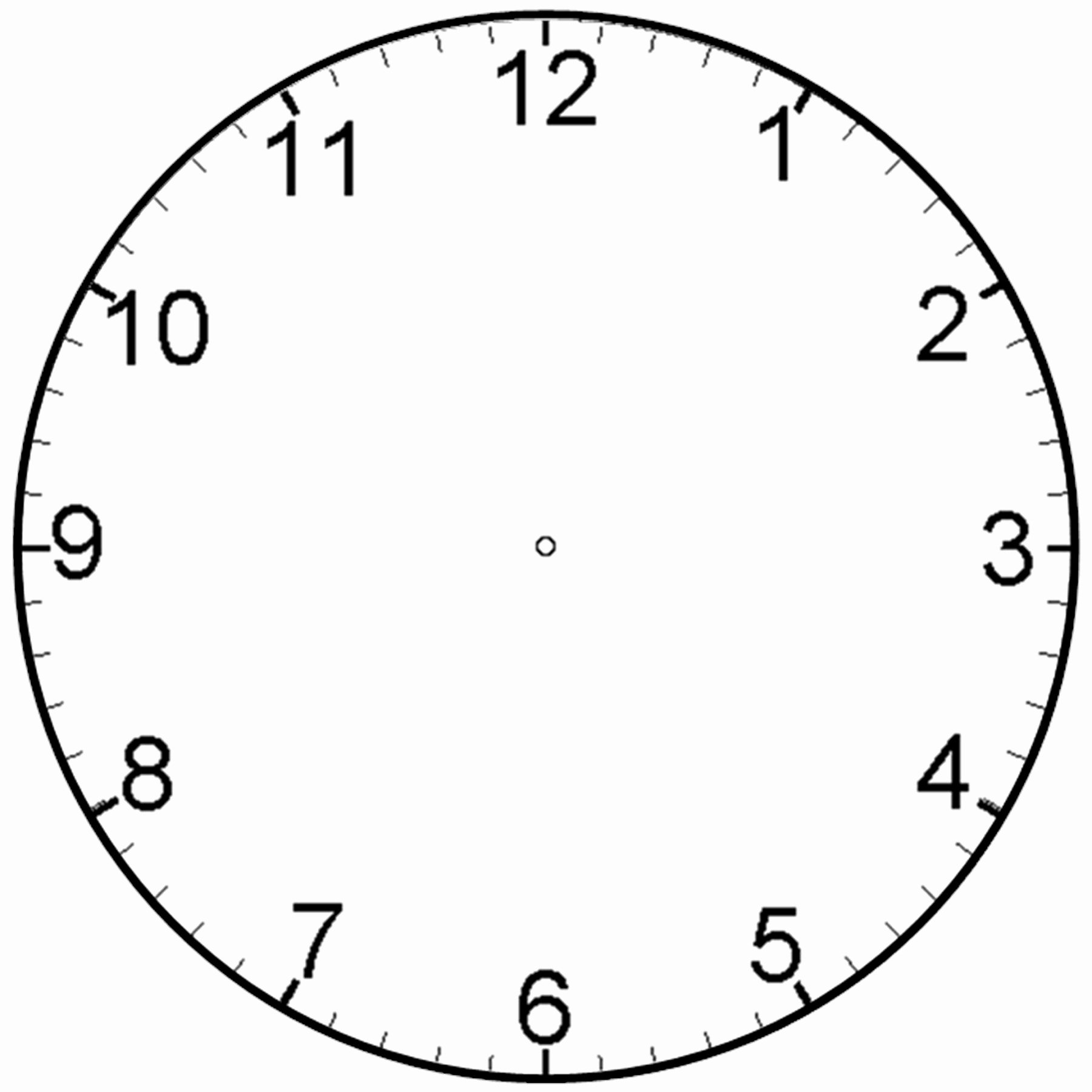 Free Printable Clock Template Unique Printable Clock for Children