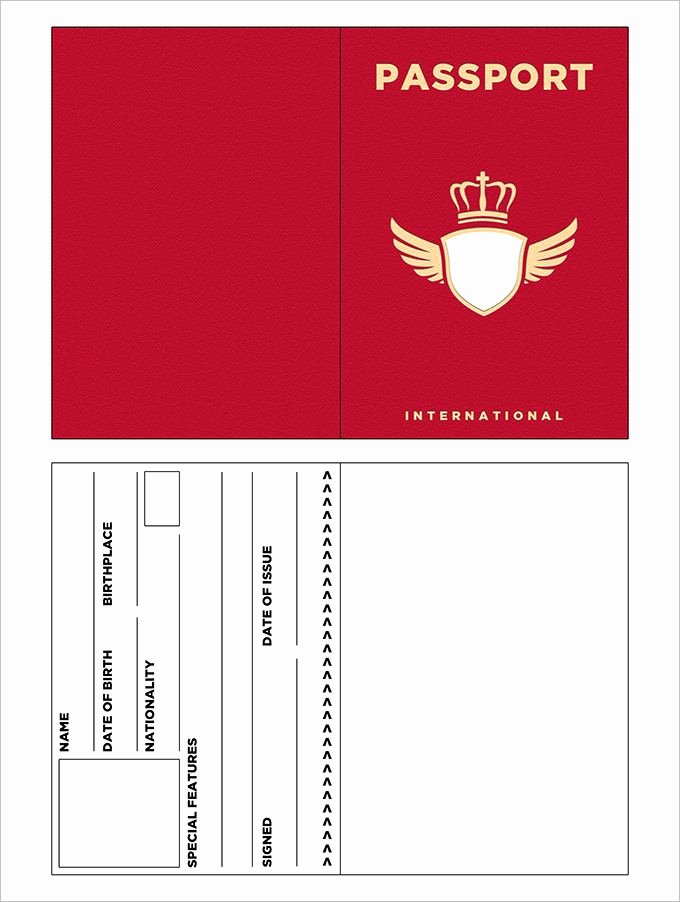 Free Printable Passport Template Awesome 10 Passport Templates Free Word Pdf Documents Download