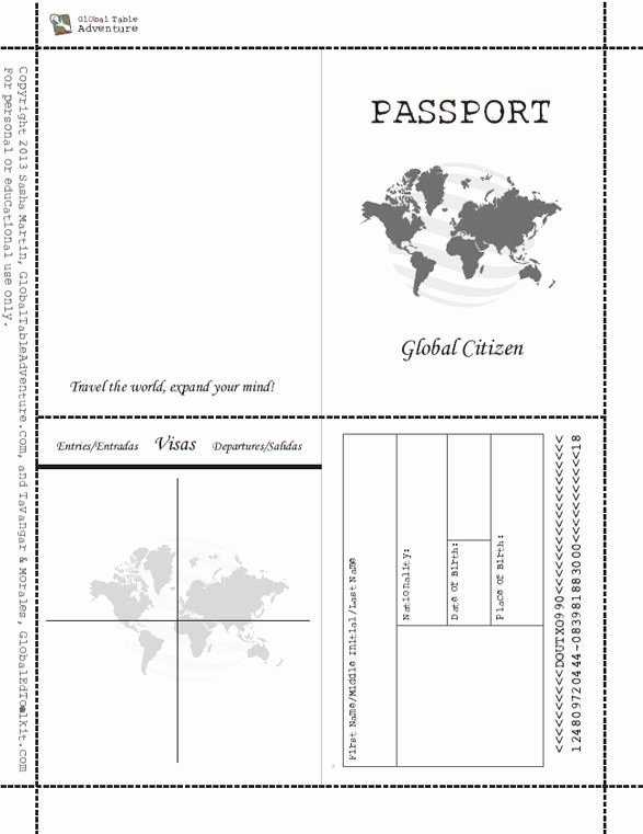 Free Printable Passport Template Awesome Best 25 Passport Template Ideas On Pinterest