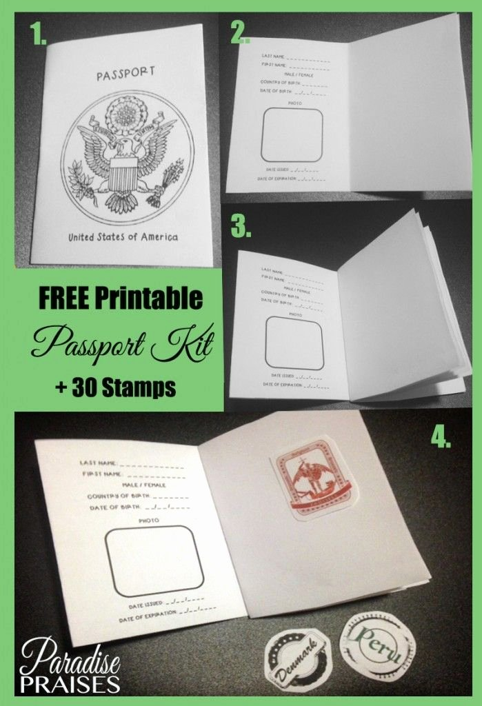 Free Printable Passport Template Awesome Free Printable Passport Stamp Activity