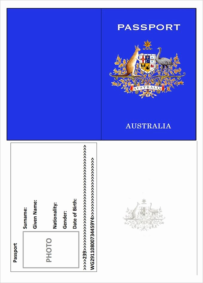 Free Printable Passport Template Awesome Pin by Ngaria Hewison On 12 Countries