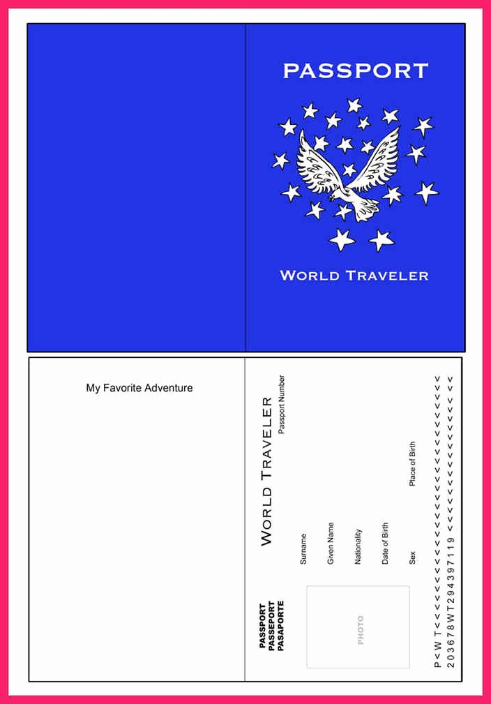 Free Printable Passport Template Beautiful Passport Template for Kids