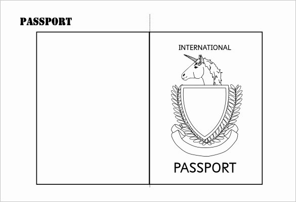 Free Printable Passport Template Elegant 24 Passport Templates Free Pdf Word Psd Designs