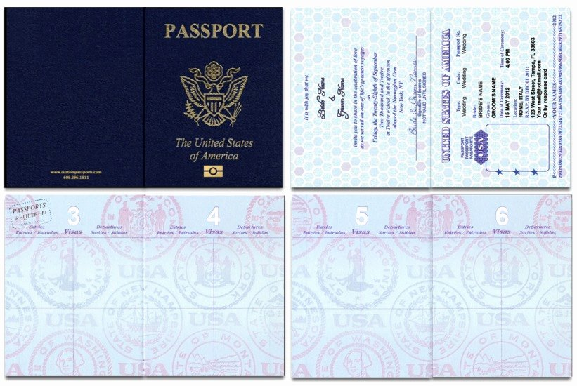 Free Printable Passport Template Elegant Custom Passport Invitation Cards