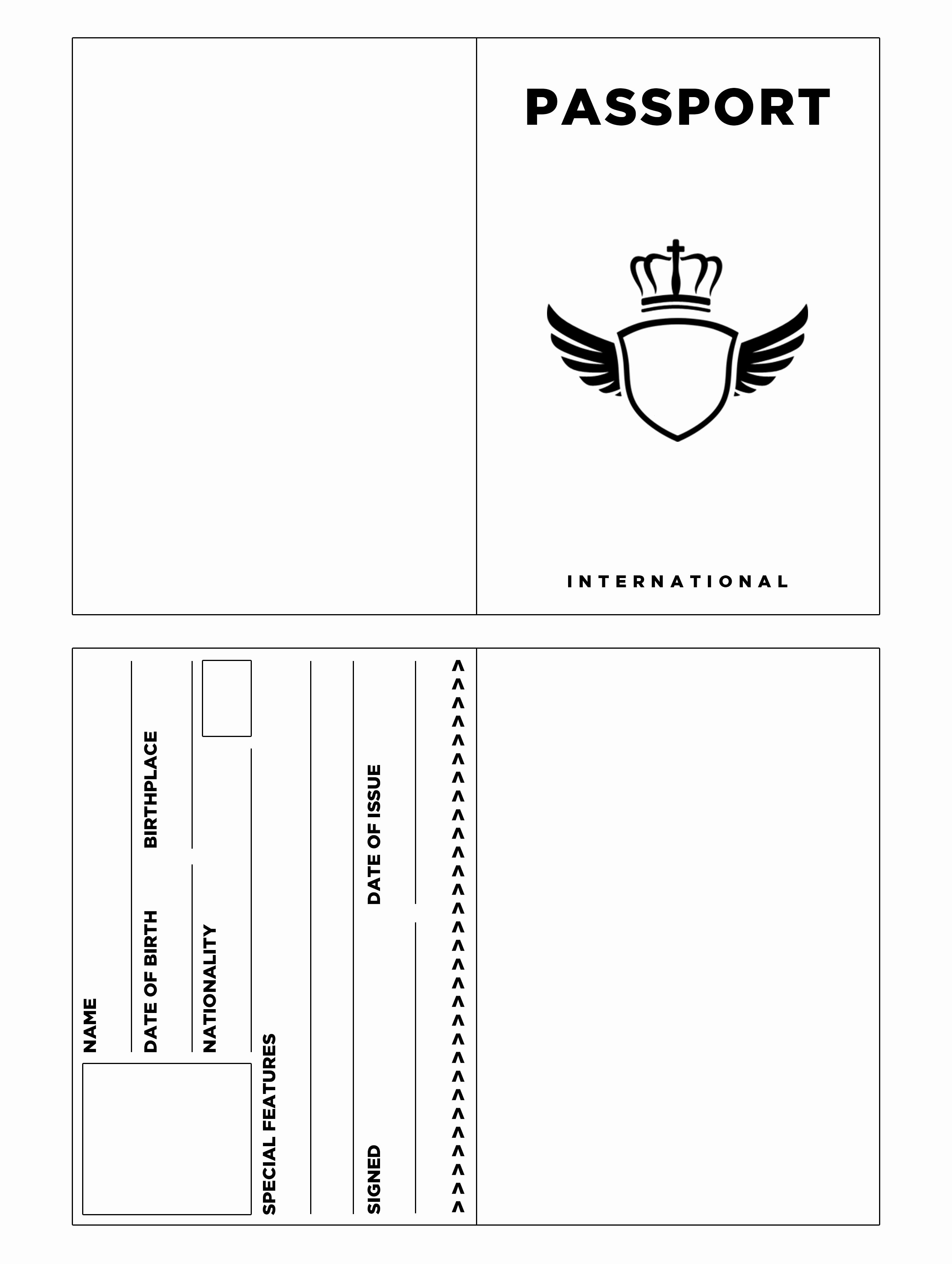 Free Printable Passport Template Fresh Passport Template for Kids