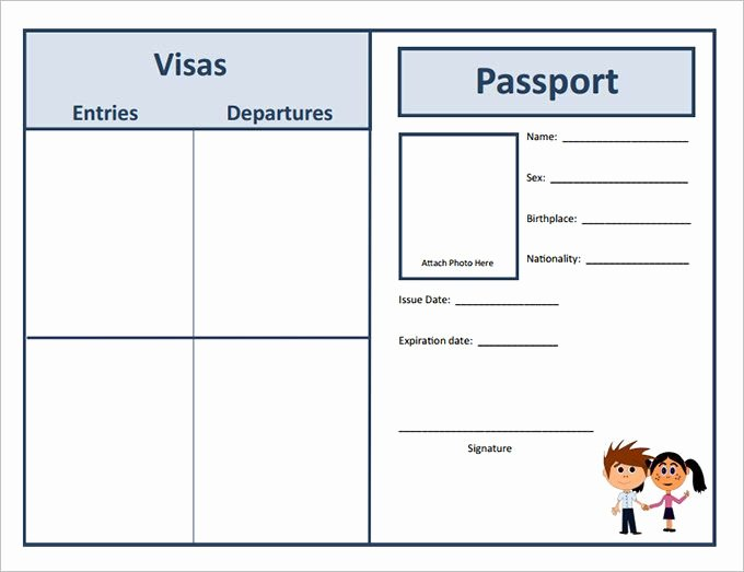 Free Printable Passport Template Inspirational Passport Template – 19 Free Word Pdf Psd Illustrator