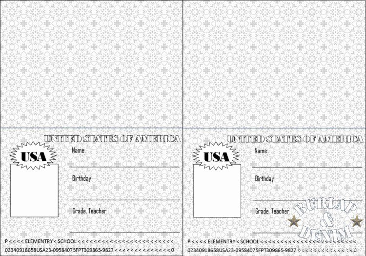 Free Printable Passport Template Luxury Passport to Readingburlap & Denim