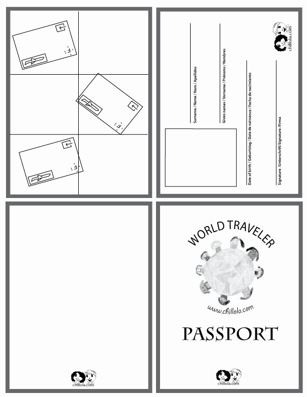 Free Printable Passport Template New 25 Best Ideas About Passport Template On Pinterest