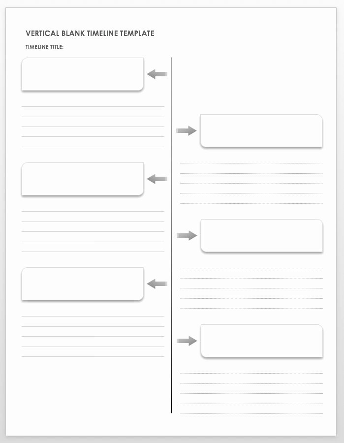 Free Printable Timeline Template Awesome Free Blank Timeline Templates