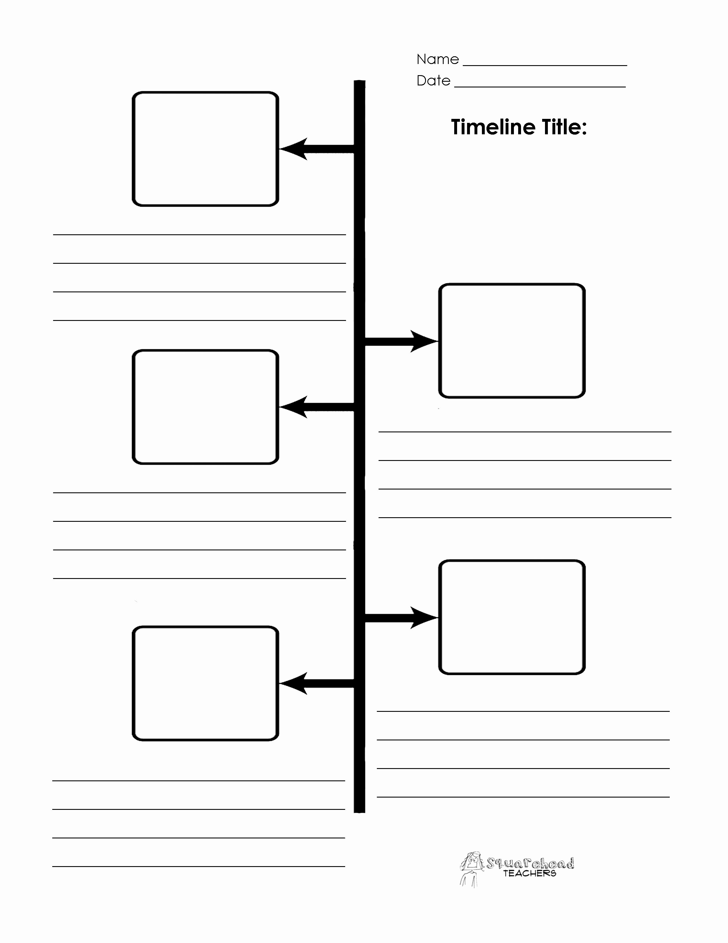 Free Printable Timeline Template Fresh Timeline Boxes and Lines