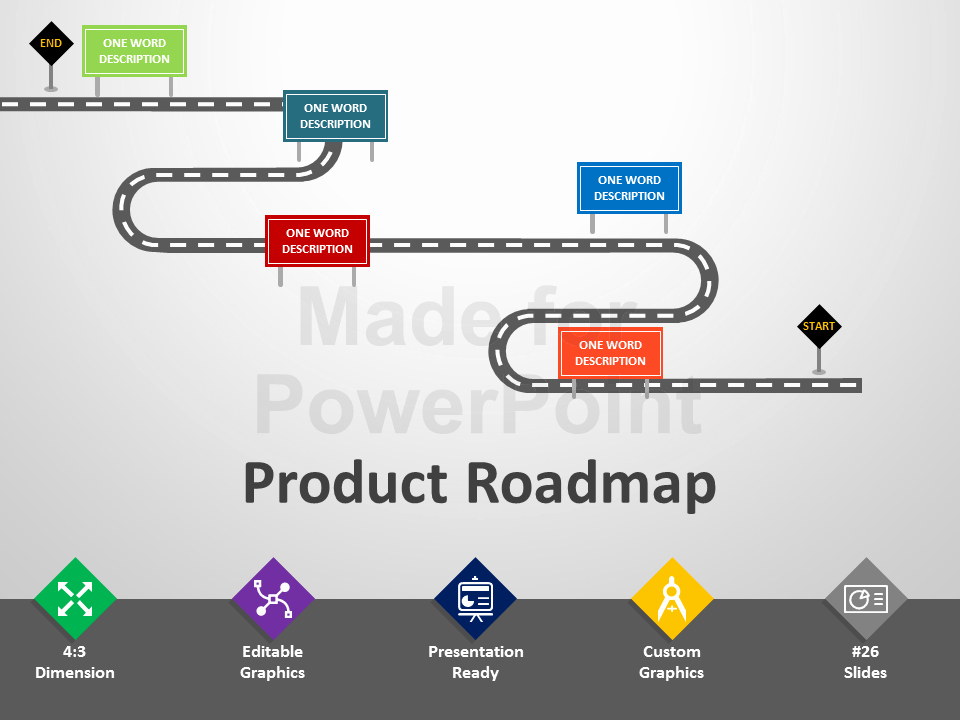 Free Project Roadmap Template Elegant Product Roadmap Powerpoint Template Editable Ppt