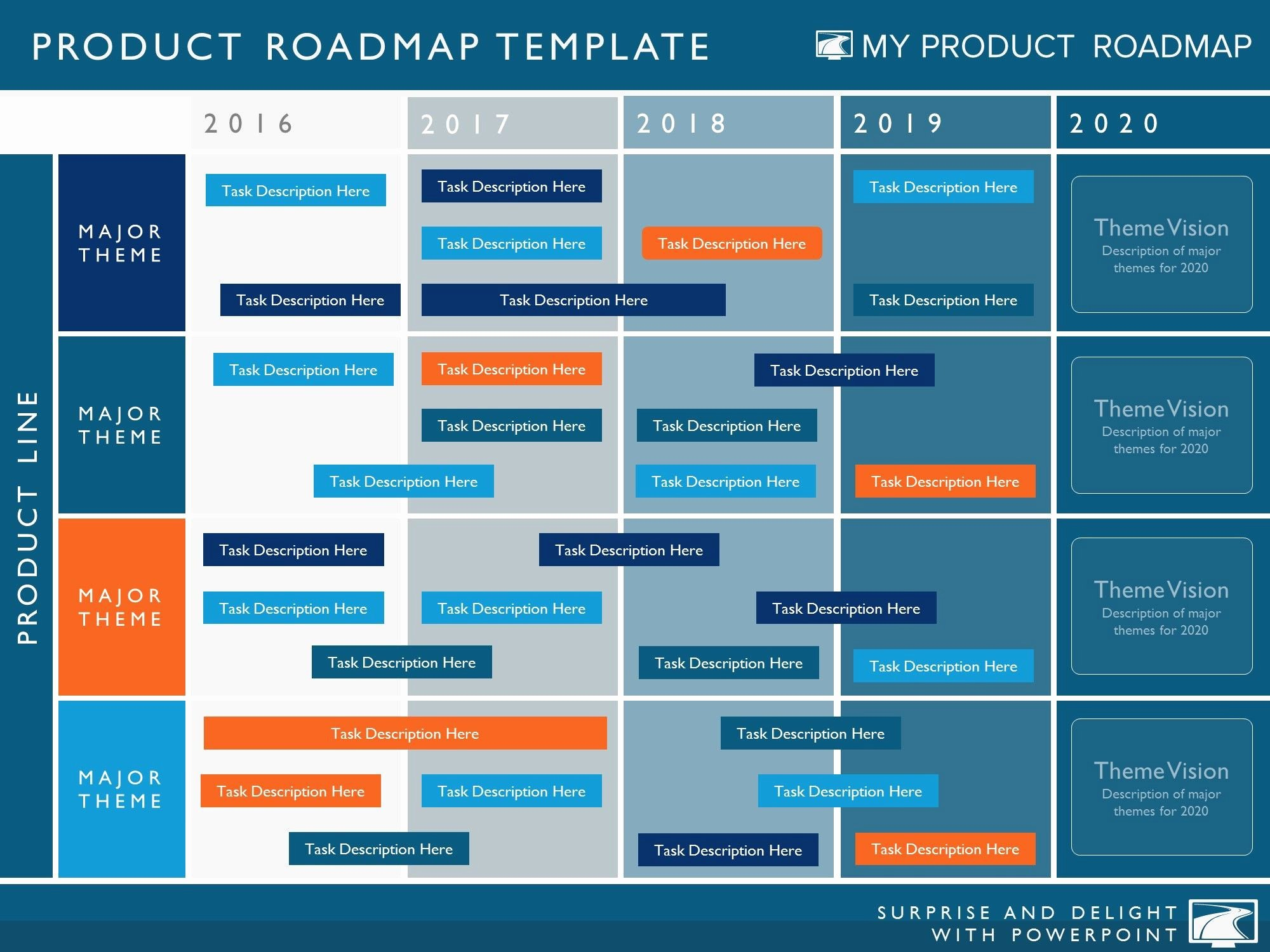 Free Project Roadmap Template New Five Phase Agile software Timeline Roadmap Powerpoint