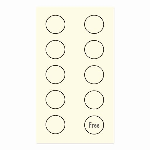 Free Punch Card Template Awesome Coffee Shop Loyalty Punch Card Business Card