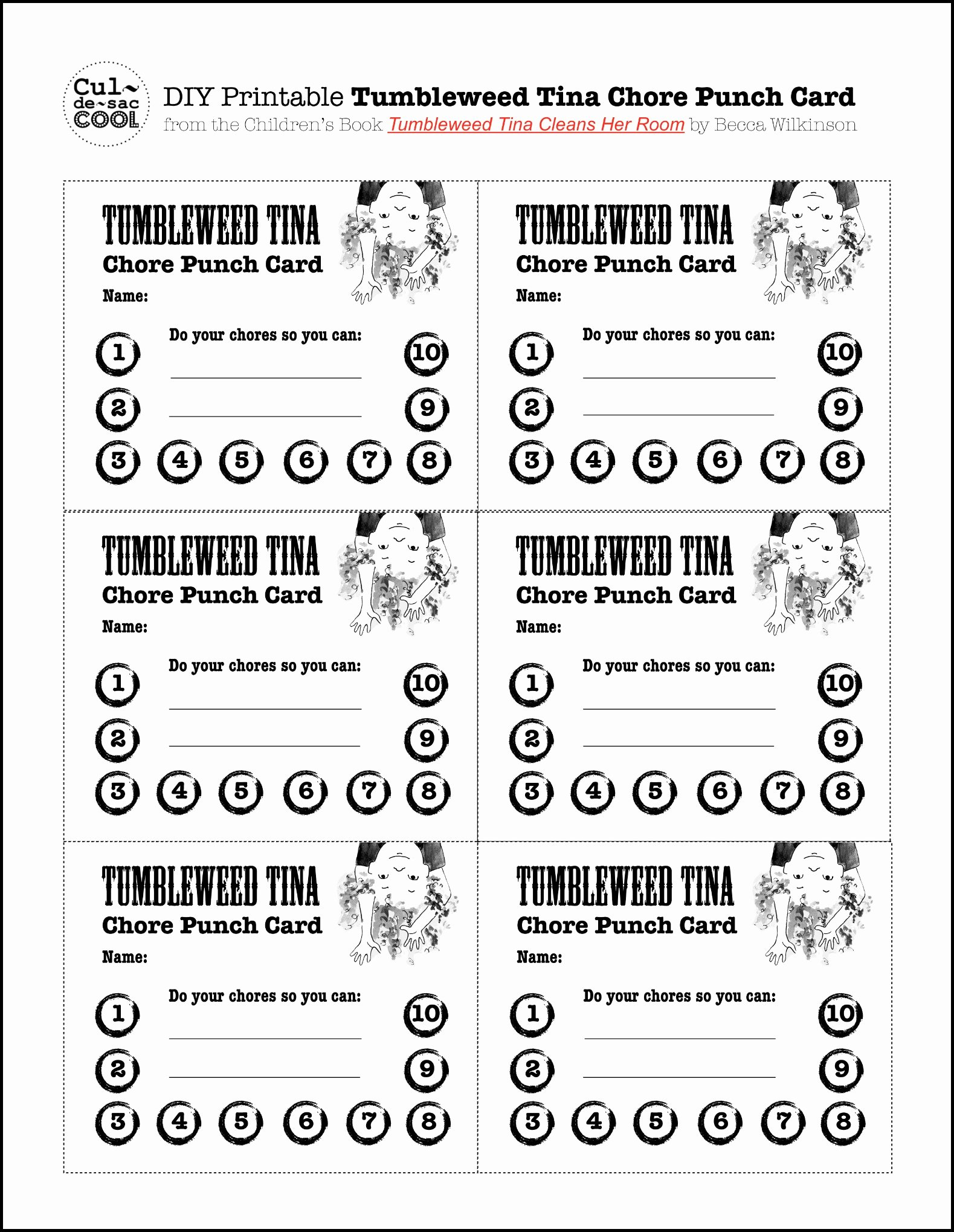 Free Punch Card Template Fresh 8 Best Of Diy Printable Punch Cards Potty