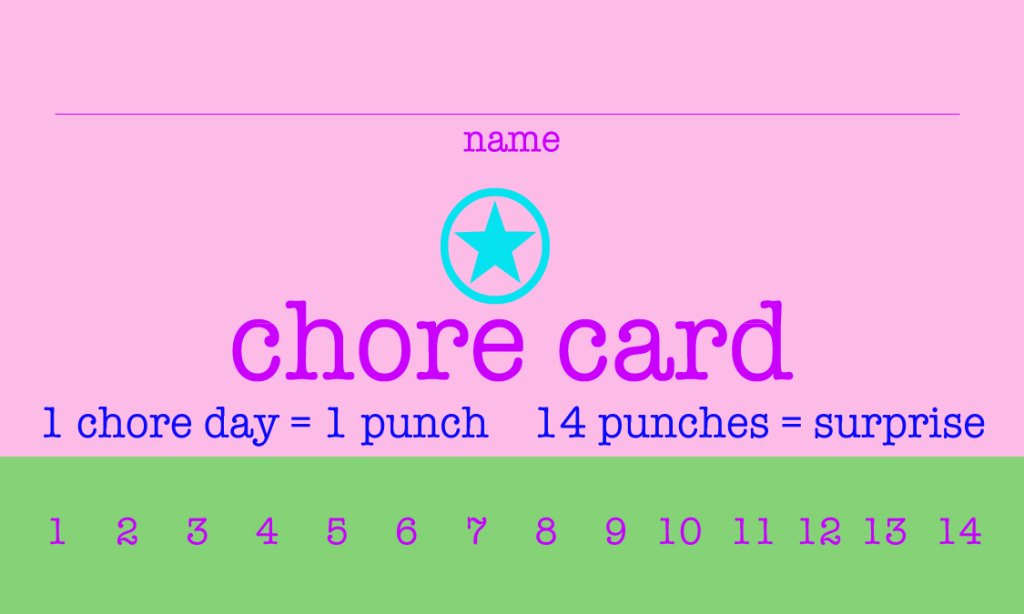 Free Punch Card Template Inspirational Free Printable Chore Punch Cards