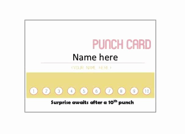 Free Punch Card Template Lovely 30 Printable Punch Reward Card Templates [ Free]