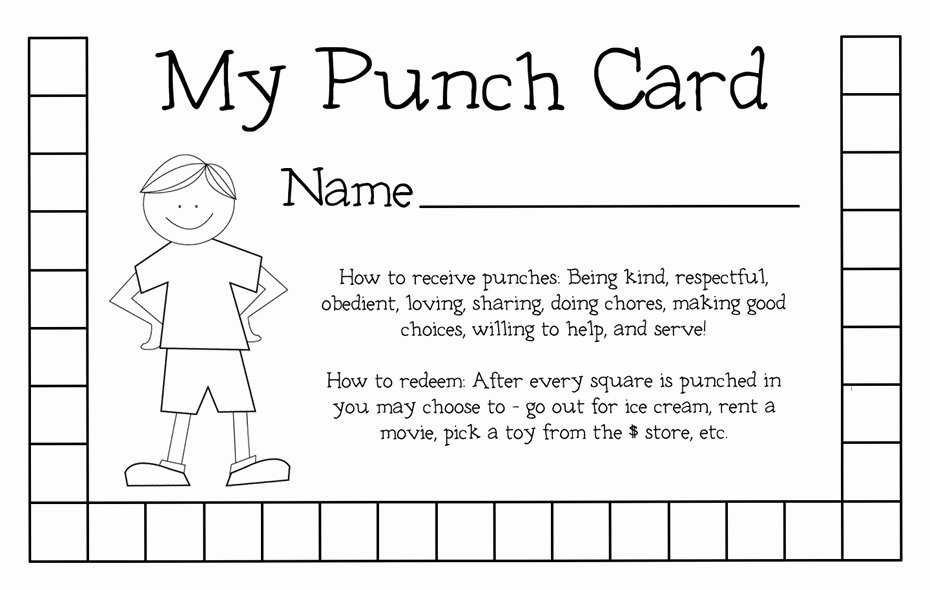 Free Punch Card Template New Punch Card Template
