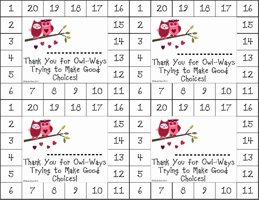Free Punch Cards Template Lovely 8 Best Of Printable Punch Cards Positive Behavior
