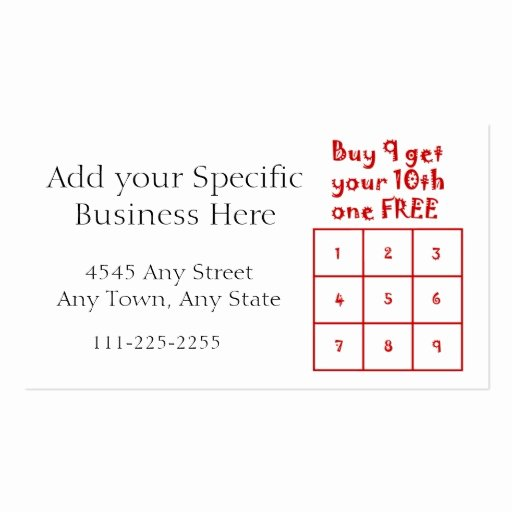 Free Punch Cards Template Lovely Punch Card Template