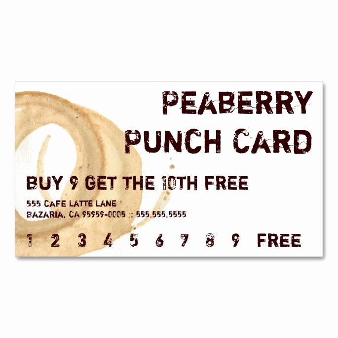 Free Punch Cards Template Luxury 1570 Best Customer Loyalty Card Templates Images On