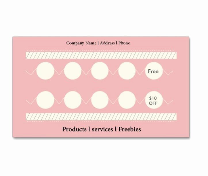 Free Punch Cards Template Luxury 30 Printable Punch Reward Card Templates [ Free]