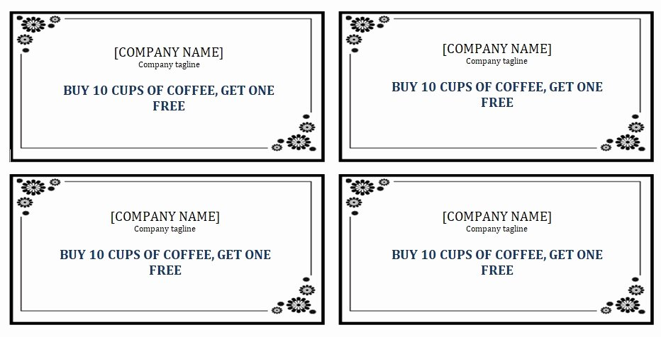 Free Punch Cards Template Unique Editable Punch Card Template Ms Word Excel Tmp