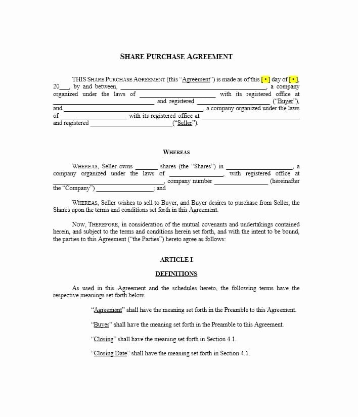 Free Purchase Agreement Template Best Of 37 Simple Purchase Agreement Templates [real Estate Business]