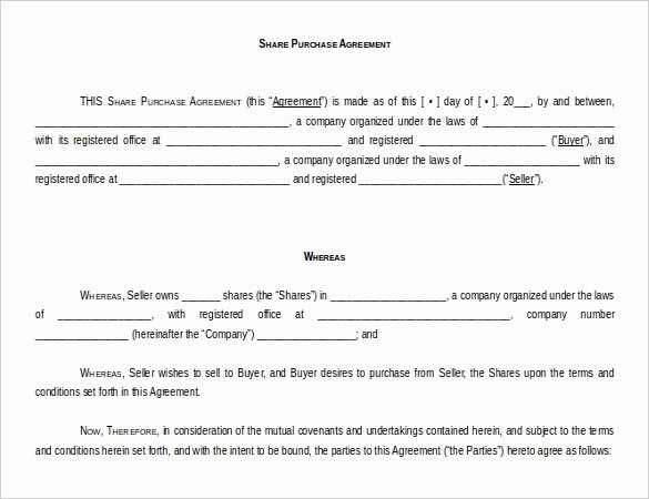 Free Purchase Agreement Template Lovely 15 Microsoft Word Agreement Templates Free Download