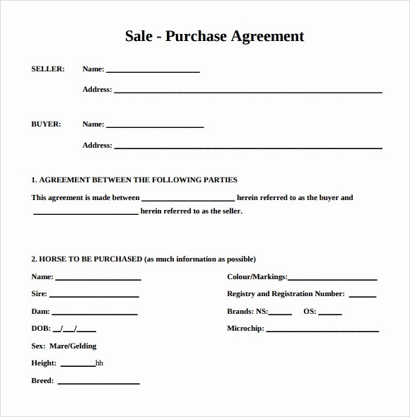 Free Purchase Agreement Template New Purchase Agreement 15 Download Free Documents In Pdf Word