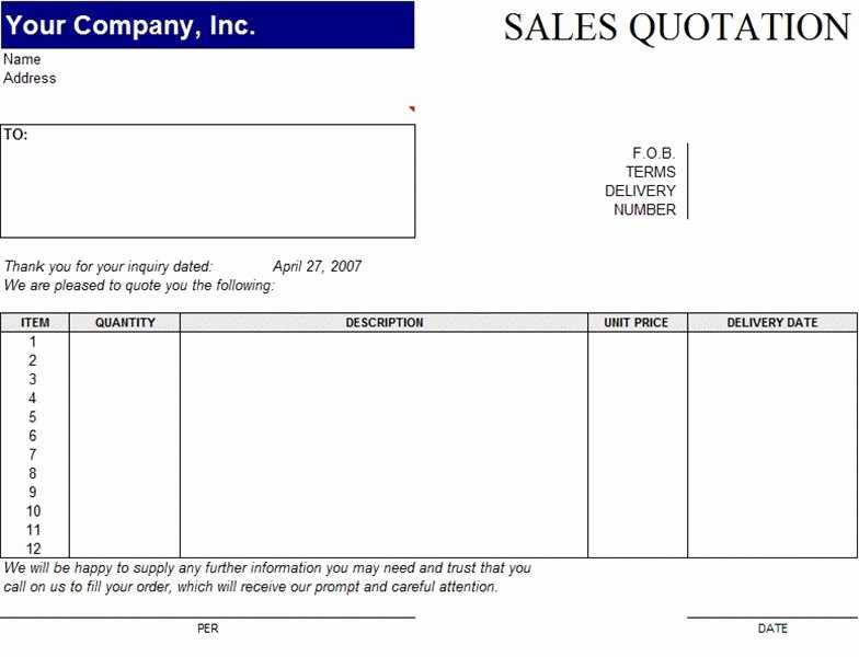 Free Quote Template Word Unique are You Looking for Sale Quotation Templates In Excel