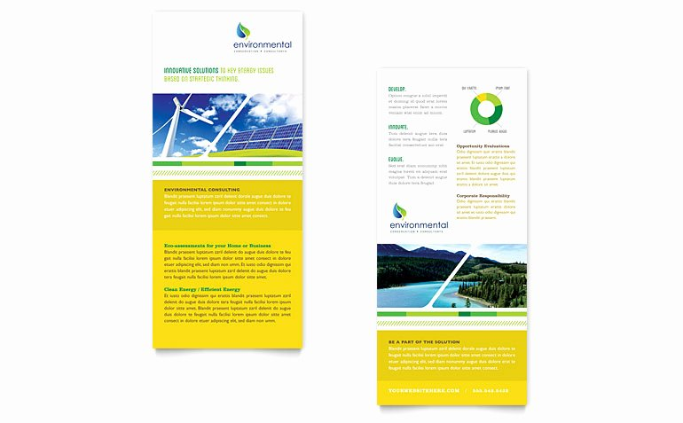 Free Rack Card Template Beautiful Environmental Conservation Rack Card Template Word