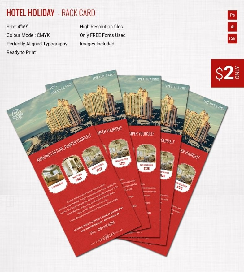 Free Rack Card Template Best Of Incredible Hotel & Holiday Rack Card Template