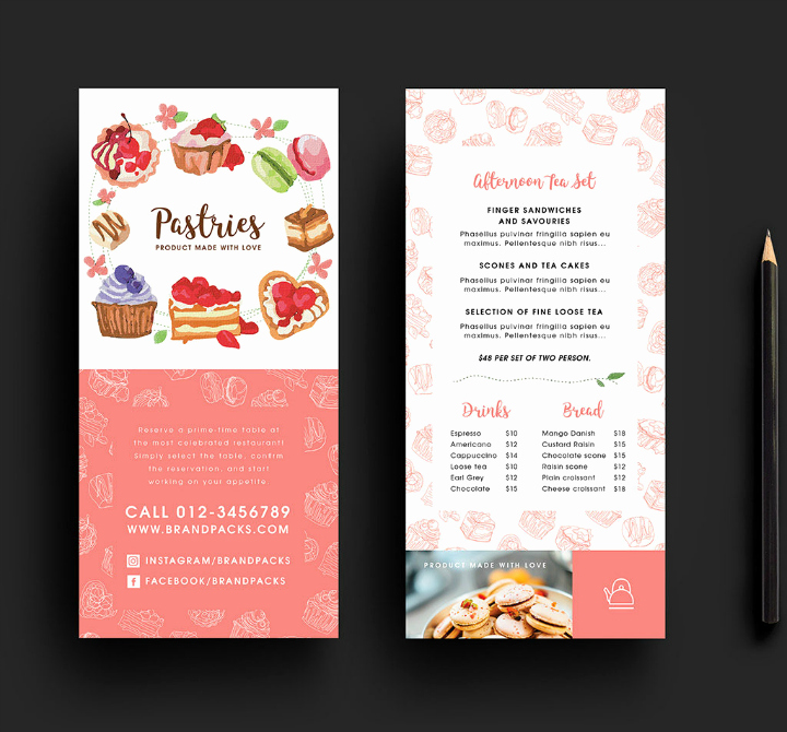 Free Rack Card Template Lovely 14 Restaurant Rack Card Designs & Templates