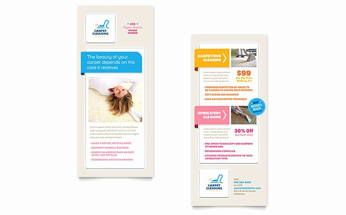 Free Rack Card Template Lovely Carpet Cleaning Rack Card Template Word & Publisher
