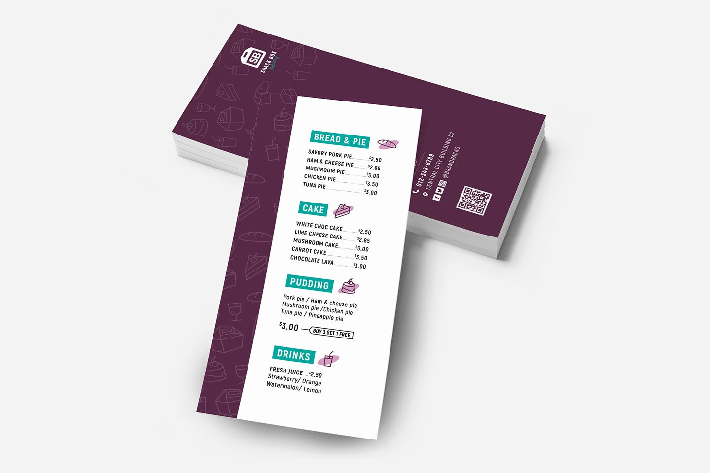 Free Rack Card Template New Free Dl Menu Rack Card Template In Psd Ai & Vector