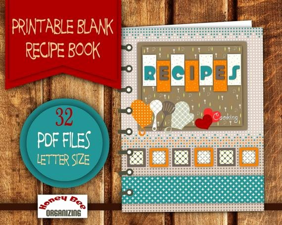 Free Recipe Book Template Awesome Diy Printable Recipe Book Recipe Binder Printable Set