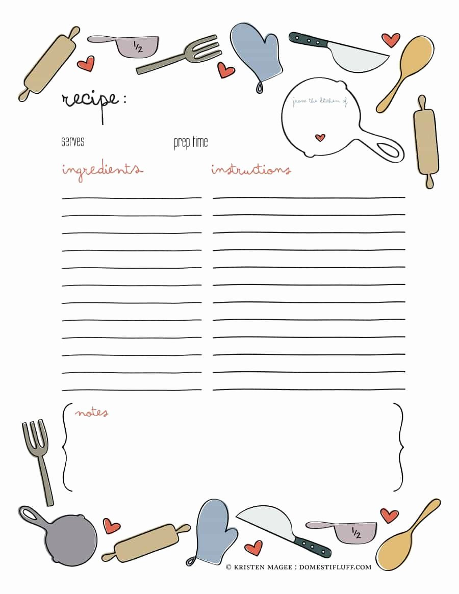 Free Recipe Book Template Best Of 44 Perfect Cookbook Templates [ Recipe Book & Recipe Cards]