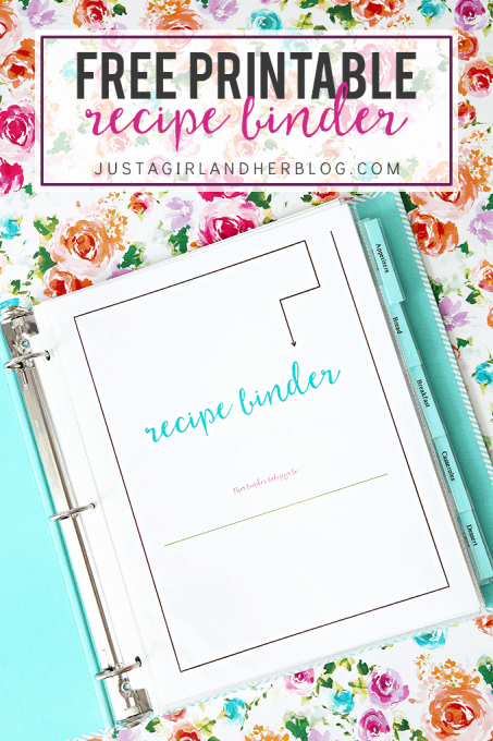 Free Recipe Book Template Elegant Free Printable Recipe Cards Just A Girl and Her Blog