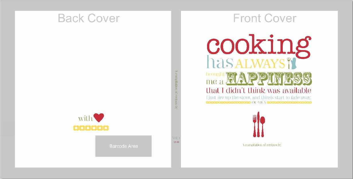 Free Recipe Book Template Lovely 7 Best Of Recipe Book Cover Template Free Recipe